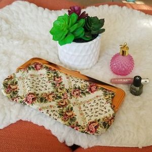 🌺Vintage Floral Tapestry clutch Boho Purse🌺